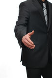 Portrait of a businessman ready to handshake Stock Image