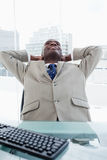 Portrait of a businessman relaxing Stock Image