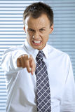 Portrait of businessman shouting in office Royalty Free Stock Photography