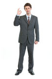 Portrait of businessman showing ok gesture Stock Photo