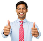 Portrait Of Businessman Showing Thumbs Up Royalty Free Stock Photography