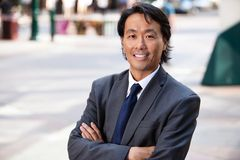 Portrait of businessman smiling Stock Photography