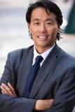 Portrait of businessman smiling Stock Images