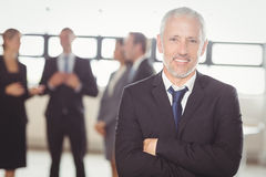 Portrait of businessman smiling at camera Stock Photography