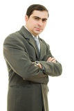Portrait  businessman smiling with hands folded Royalty Free Stock Images