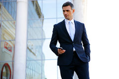 Portrait of a businessman standing Royalty Free Stock Image