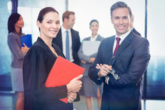 Portrait of businessman standing with lawyer Royalty Free Stock Image