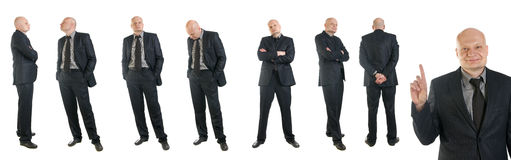 Portrait of businessman in suit Royalty Free Stock Photos