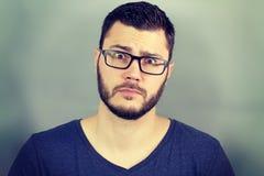 Portrait of a businessman surprised Stock Photos