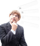 Portrait of a Businessman thinking Royalty Free Stock Image