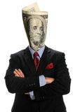 Portrait of Businessman With US Bill Royalty Free Stock Photos