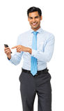 Portrait Of Businessman Using Smart Phone Royalty Free Stock Image