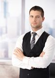 Portrait of businessman in waistcoat Stock Images