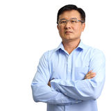 Portrait of businessman wearing glasses Royalty Free Stock Photo