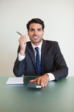 Portrait of a businessman working Royalty Free Stock Photography