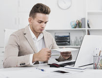 Portrait of  businessman working in modern office Royalty Free Stock Photo