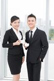 Pretty businesspeople Stock Images