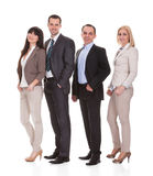 Portrait Of Businesspeople Group. Portrait Of Happy Businesspeople Group Over White Background royalty free stock photos