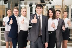 Portrait of businesspeople. Showing sign of okay Stock Images