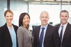 Portrait of businesspeople smiling Royalty Free Stock Photo