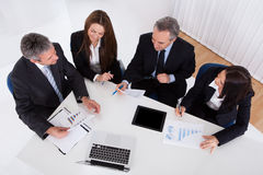 Portrait Of Businesspeople Working Stock Photo
