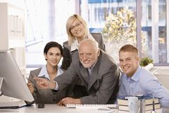 Portrait of business team at work royalty free stock photos