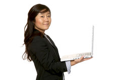 Portrait of businesswoman. Portrait of woman on white background stock image