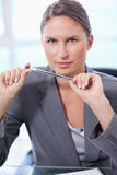 Portrait of a businesswoman Stock Images