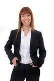 Portrait of businesswoman. Portrait of a happy and confident businesswoman stock photography