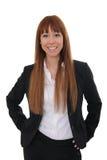 Portrait of businesswoman. Portrait of a happy and confident businesswoman stock image