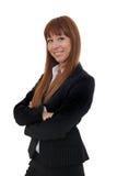 Portrait of businesswoman. Portrait of a happy and confident businesswoman stock photo