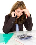 Portrait of a businesswoman with a calculator Stock Photography