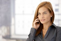Portrait of businesswoman on call Stock Photos