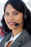 Portrait of a businesswoman in a call center Stock Photography