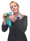 Portrait of a businesswoman cleaning her glasses Royalty Free Stock Photo