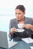 Portrait of a businesswoman drinking coffee Stock Photography