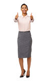 Portrait Of Businesswoman Gesturing Thumbs Up Stock Image