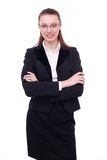 Portrait of businesswoman in glasses. Royalty Free Stock Photography