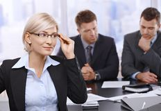 Portrait of businesswoman with glasses Royalty Free Stock Image