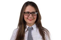 Portrait of a businesswoman with glasses Royalty Free Stock Image
