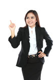 Portrait of businesswoman got idea Stock Image