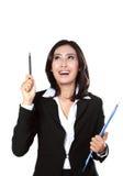 Portrait of businesswoman got idea Royalty Free Stock Images