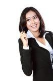 Portrait of businesswoman got idea Royalty Free Stock Photo