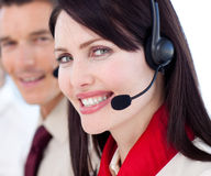 Portrait of a businesswoman with headset on Royalty Free Stock Photo
