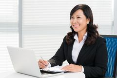 Happy businesswoman Stock Image