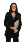 Portrait of Businesswoman Holding Binder Stock Photos