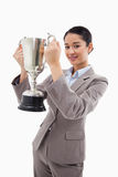 Portrait of a businesswoman holding a cup Stock Image