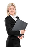 Portrait of a businesswoman holding a laptop Royalty Free Stock Photos