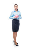 Portrait of businesswoman isolated on white background Royalty Free Stock Image