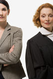 Portrait of a businesswoman and a judge stock photos